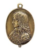 Thumbnail image of Facsimile of one of a pair of 'Forlorn Hope' medals, showing Charles I wearing the Lion Armour (XVIII.564)