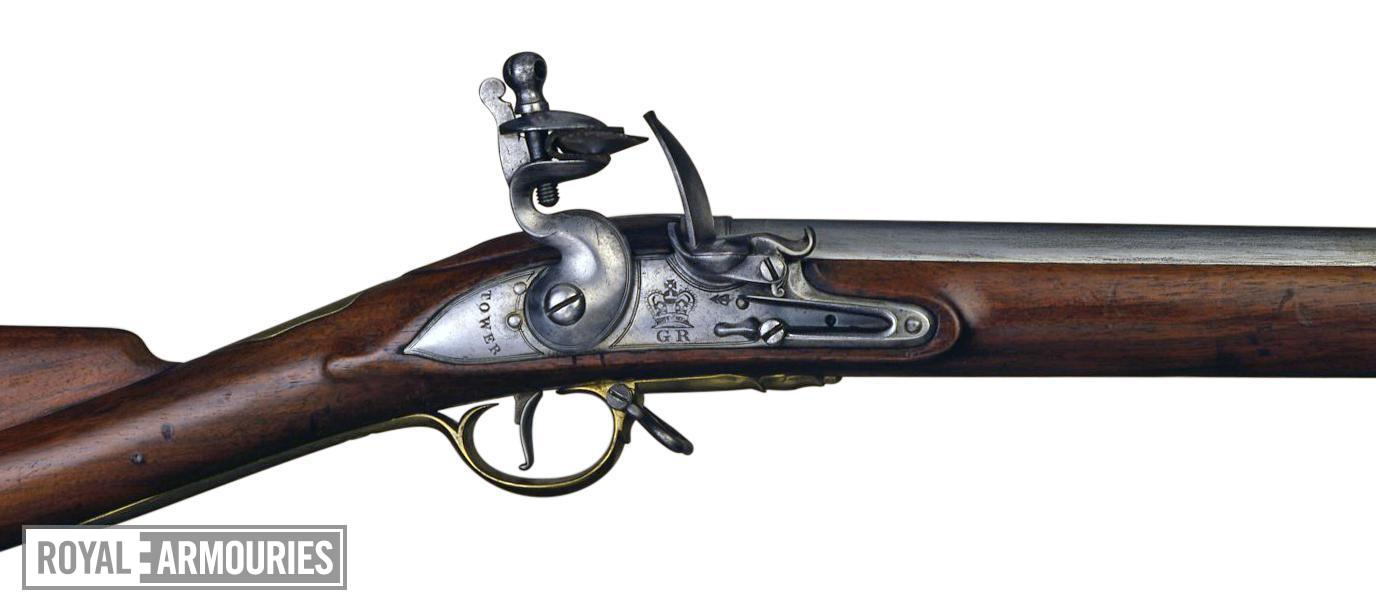 Flintlock military musket (Short Land Pattern Musket). British, about 1785 (XII.3090)