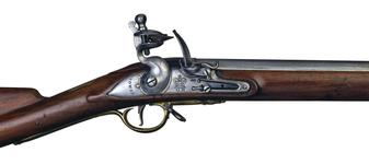 Thumbnail image of Flintlock military musket (Short Land Pattern Musket). British, about 1785 (XII.3090)