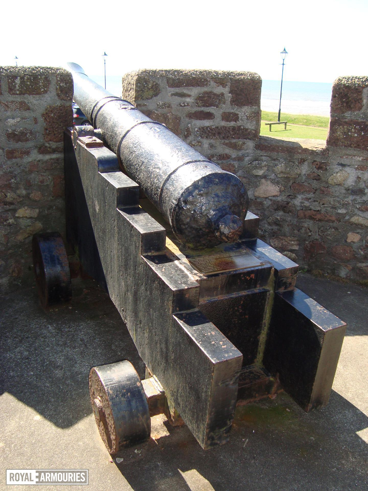 The gun on display at Seascale, Cumbria.