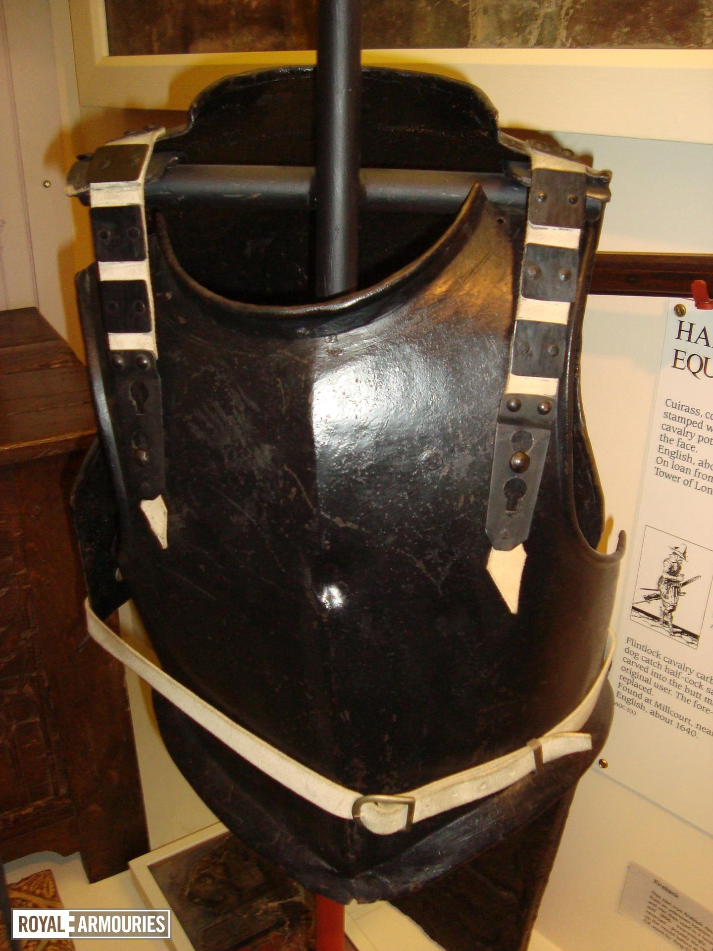 Armour on the damaged mount at the Curtis Museum.