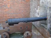 Thumbnail image of Gun on display at Calshot Castle.