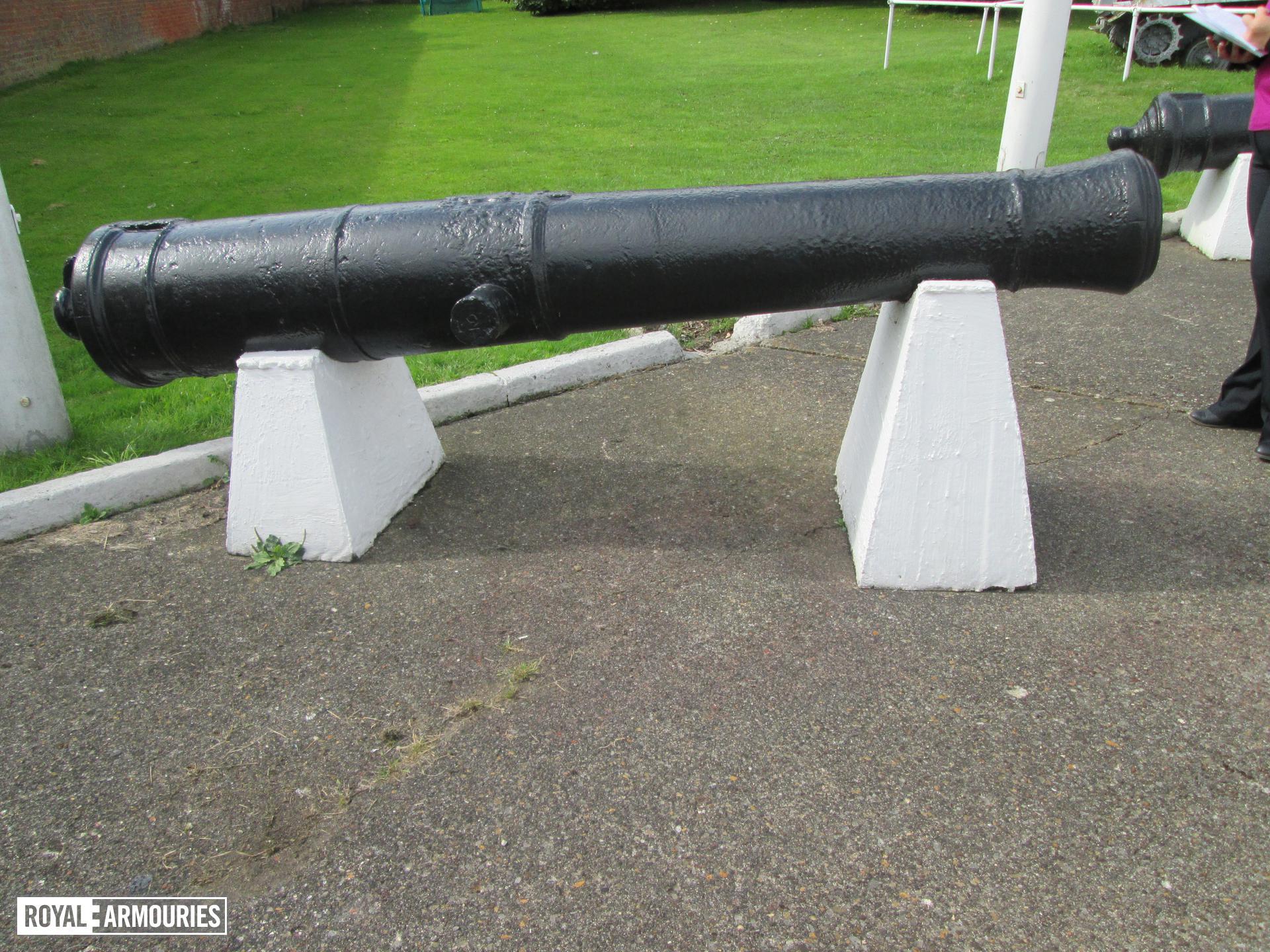 Gun on display at Fort Paull.