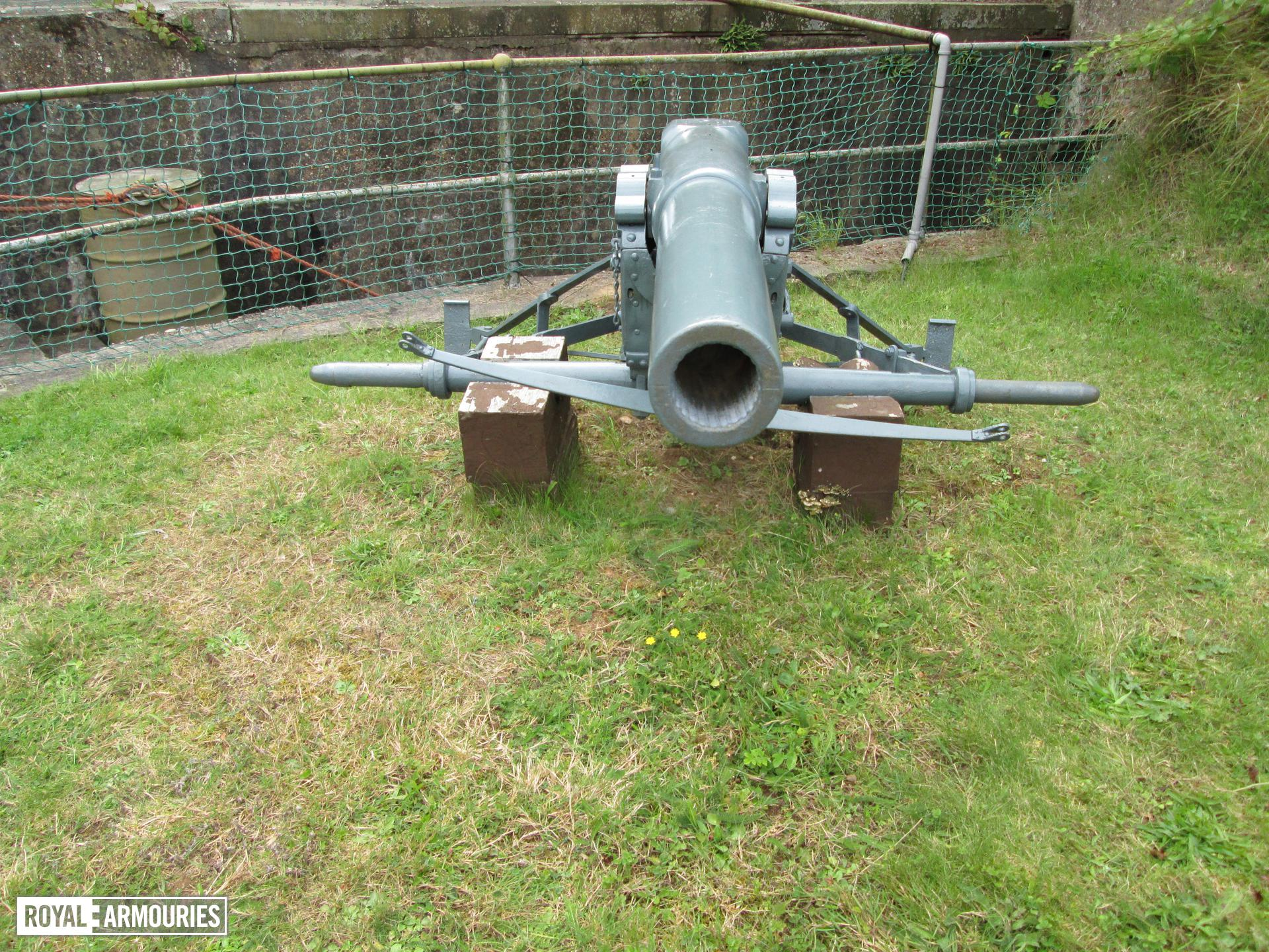 Gun on display at Fort Paull.