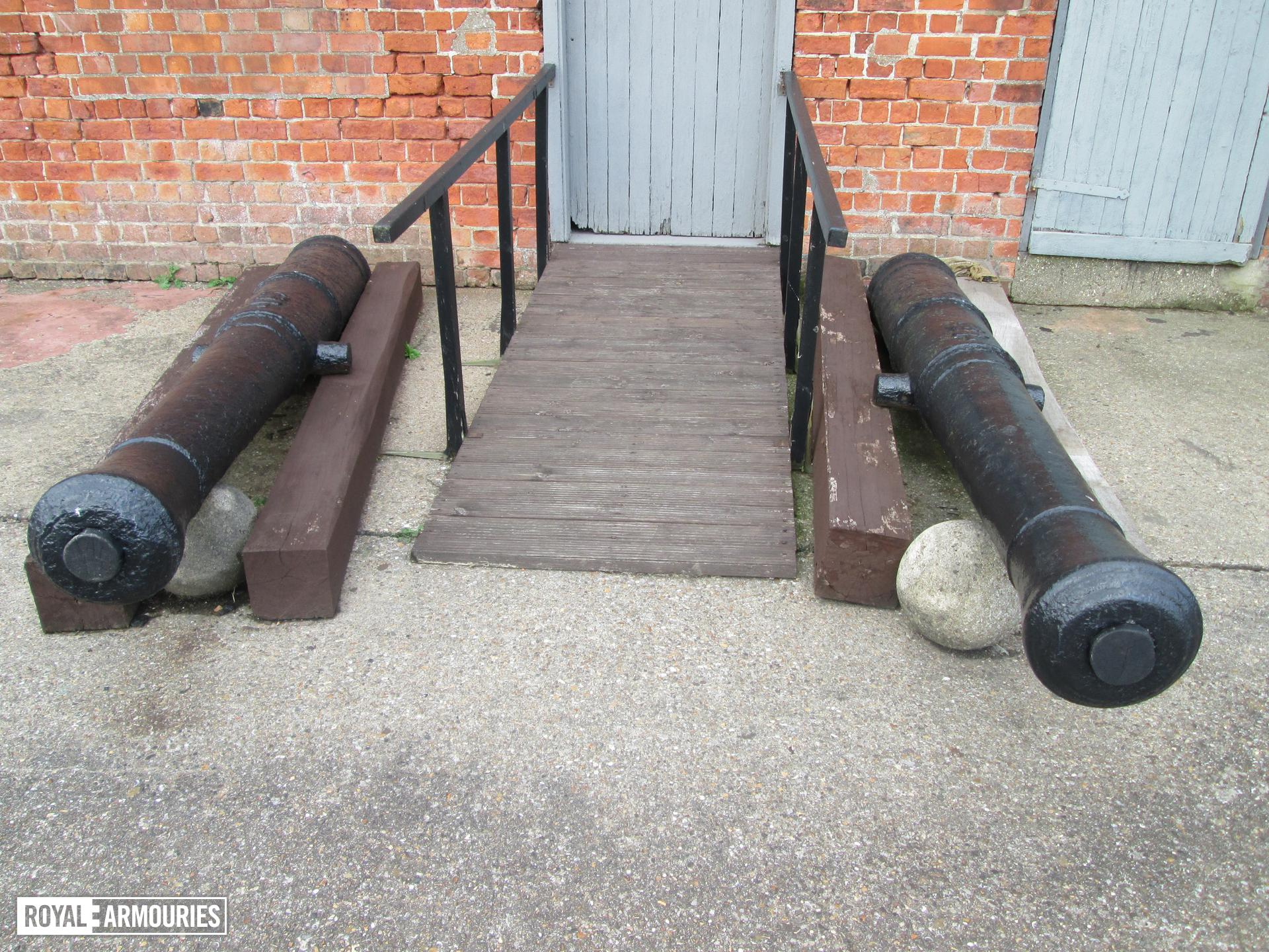 The two guns on display at Fort Paull. It is unclear which is which as they are identical.