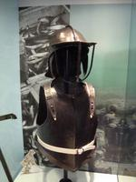 Thumbnail image of The breatplate on display with the rest of the armour in Liverpool.