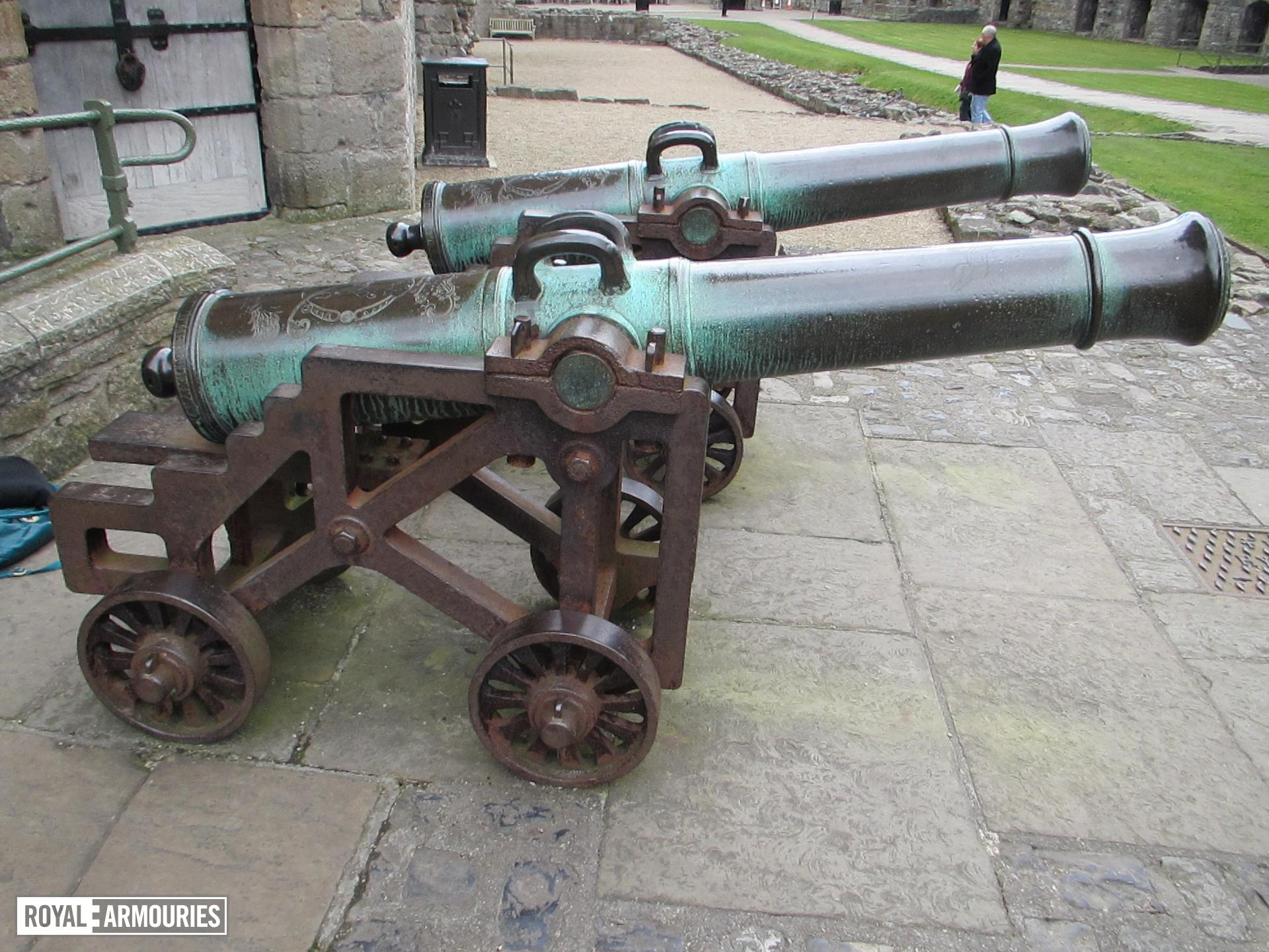 The gun on display at Caernarfon Castle, with its pair XIX.858.