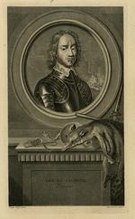 Thumbnail image of Engraving of Oliver Cromwell 'Protecteur' by Vander Werff and Petr Drevet
