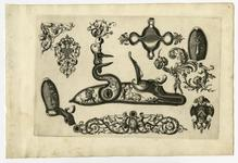 Thumbnail image of 5/8 leaves of engraved ornament for parts of flintlocks.