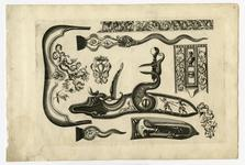 Thumbnail image of 6/8 leaves of engraved ornament for parts of flintlocks.