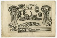 Thumbnail image of 7/8 leaves of engraved ornament for parts of flintlocks.