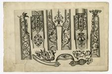 Thumbnail image of 8/8 leaves of engraved ornament for parts of flintlocks.