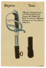 Thumbnail image of 2/7 coloured drawings of German military swords.