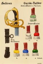 Thumbnail image of 7/7 coloured drawings of German military swords.