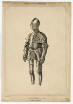 Thumbnail image of Lithograph. 'Armure de Tournoi, XVIe. siècle, Collection du prince Soltykoff'.