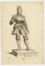 Thumbnail image of 3/8 engravings of statues. No. III Rudolf I.