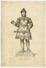 Thumbnail image of 4/8 engravings of statues. No. IV Herzog Albrecht II.