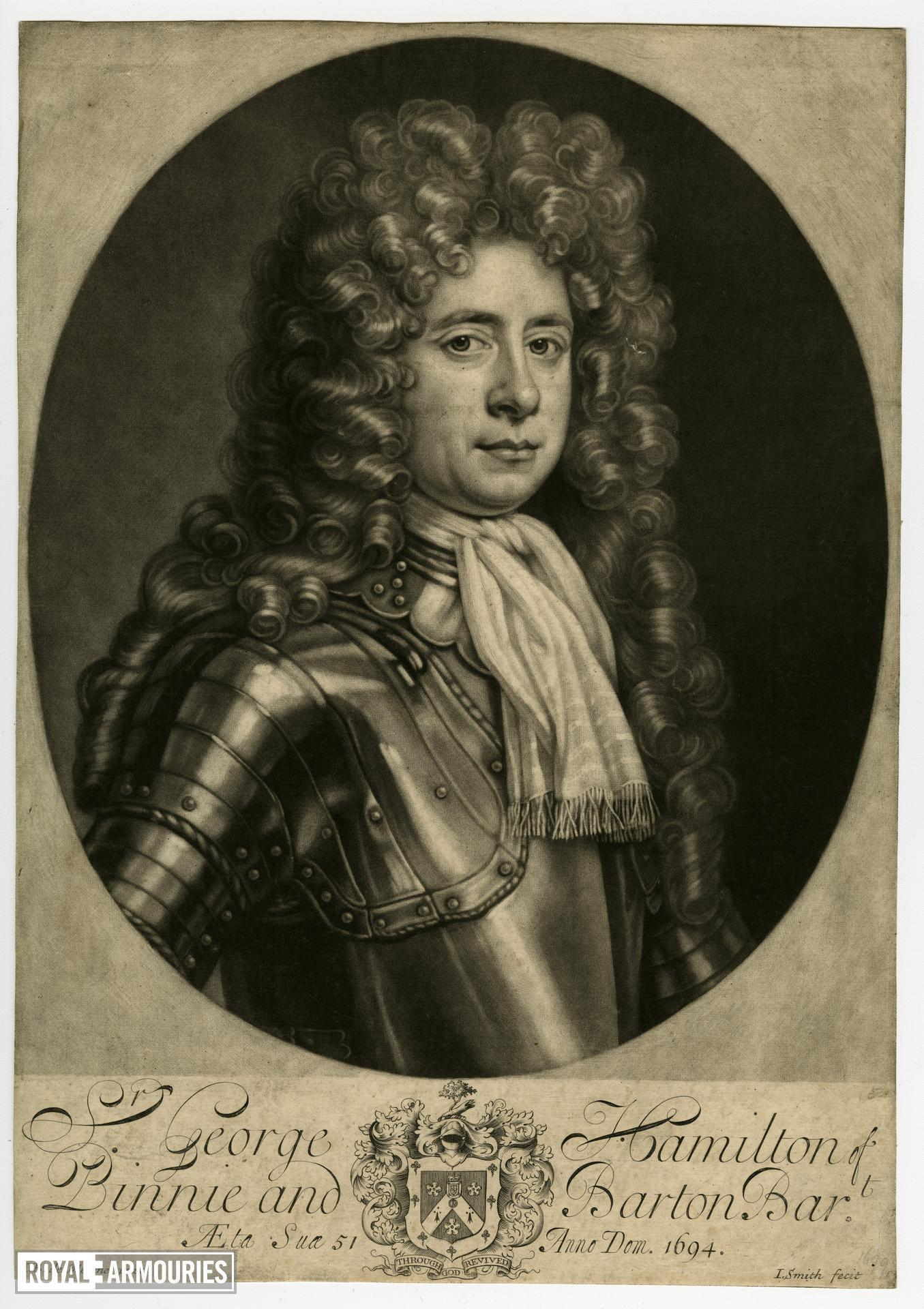 Print of Sir George Hamilton