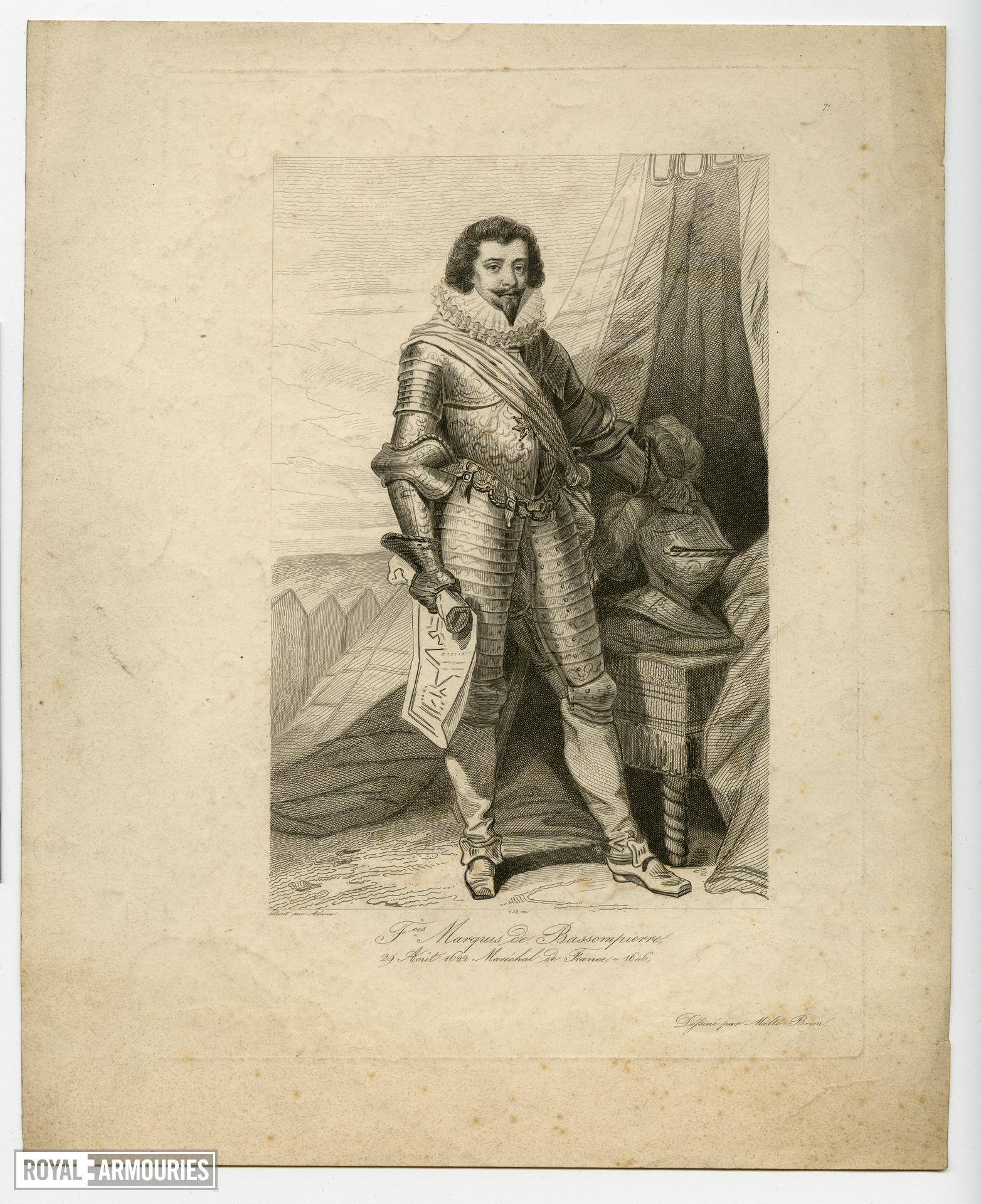 Engraving of the Marquis de Bassompiere