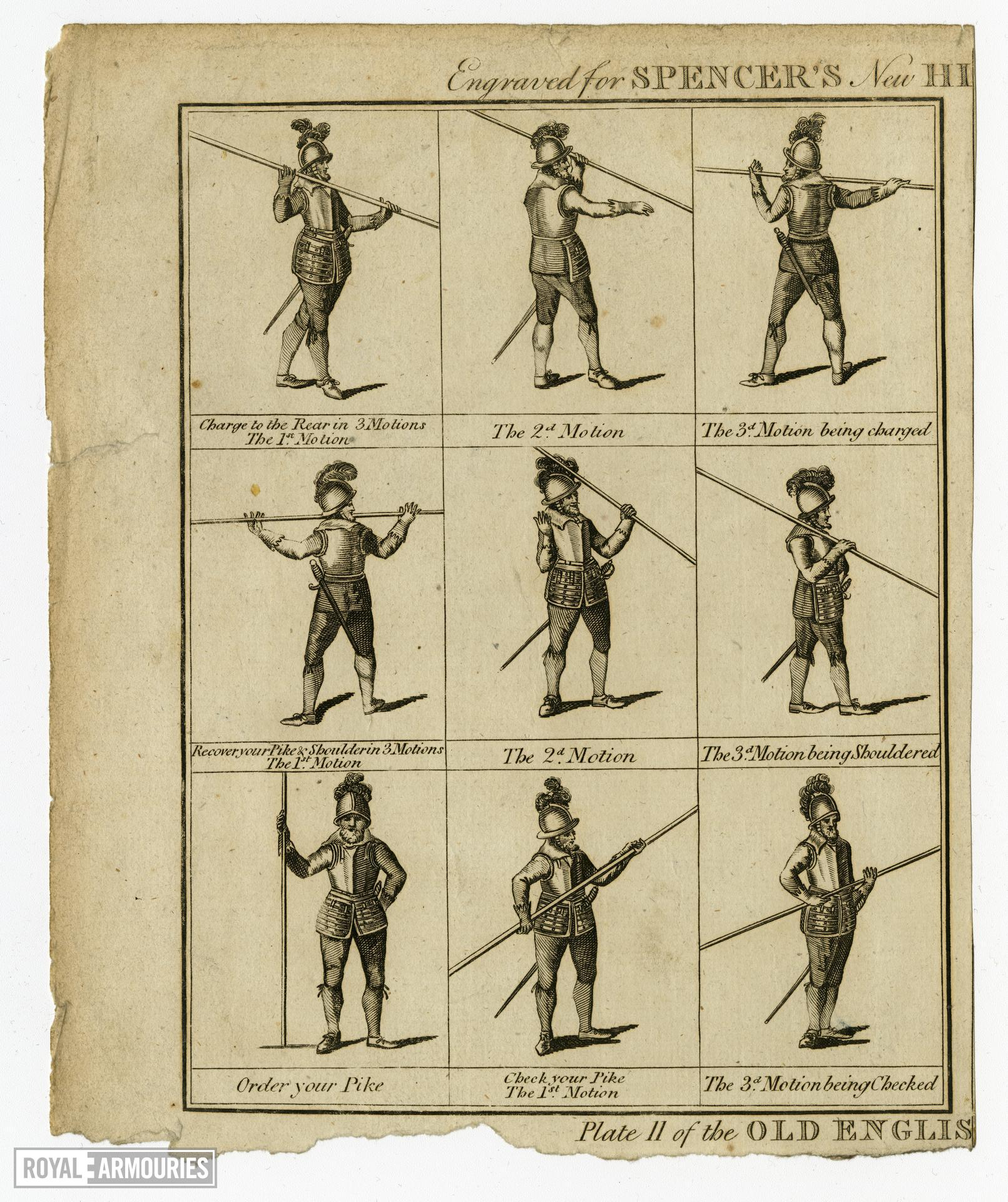 Plate II of Old English Pike Exercise'