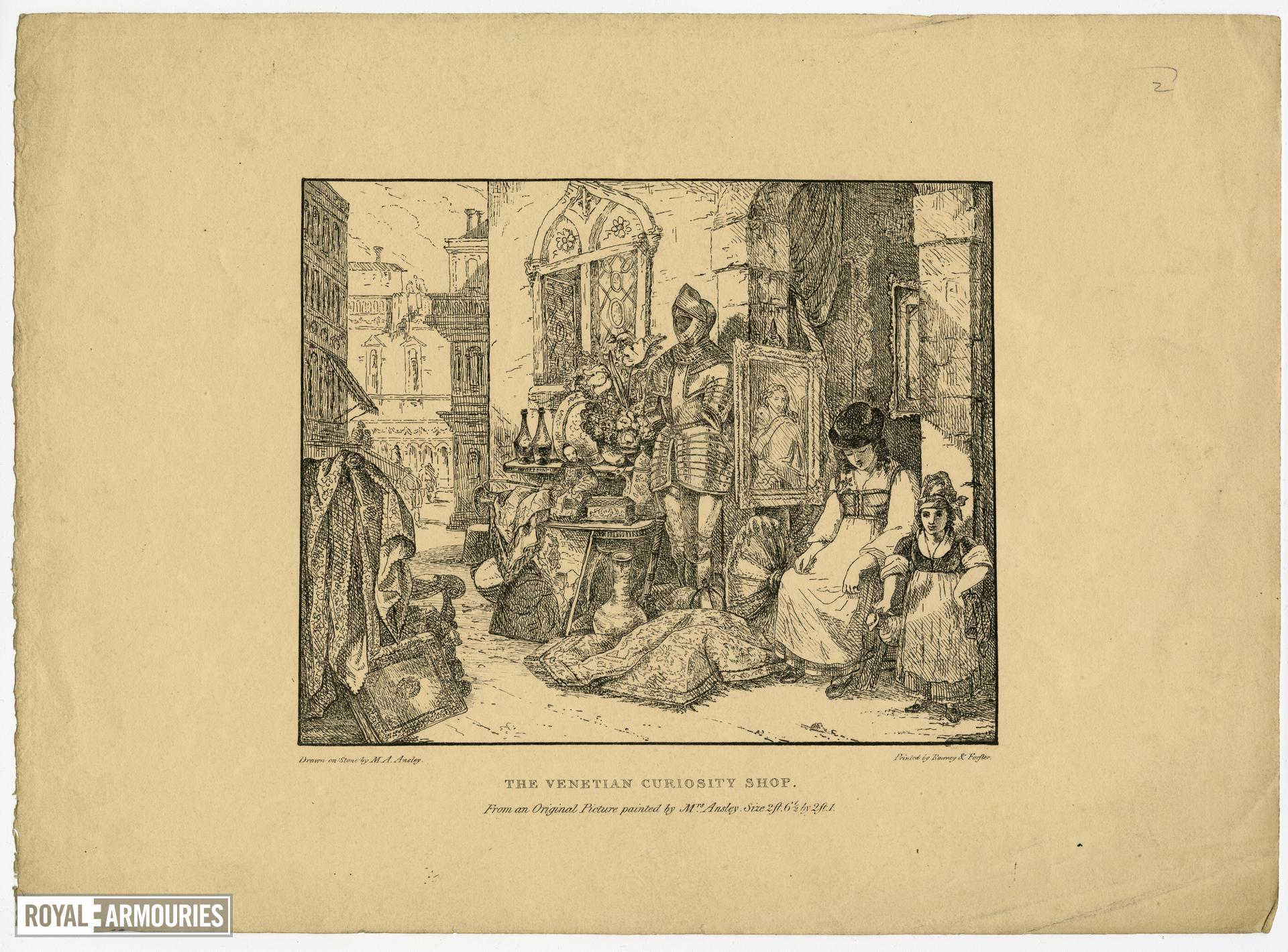 Print entitled 'The Venetian Curiosity Shop'