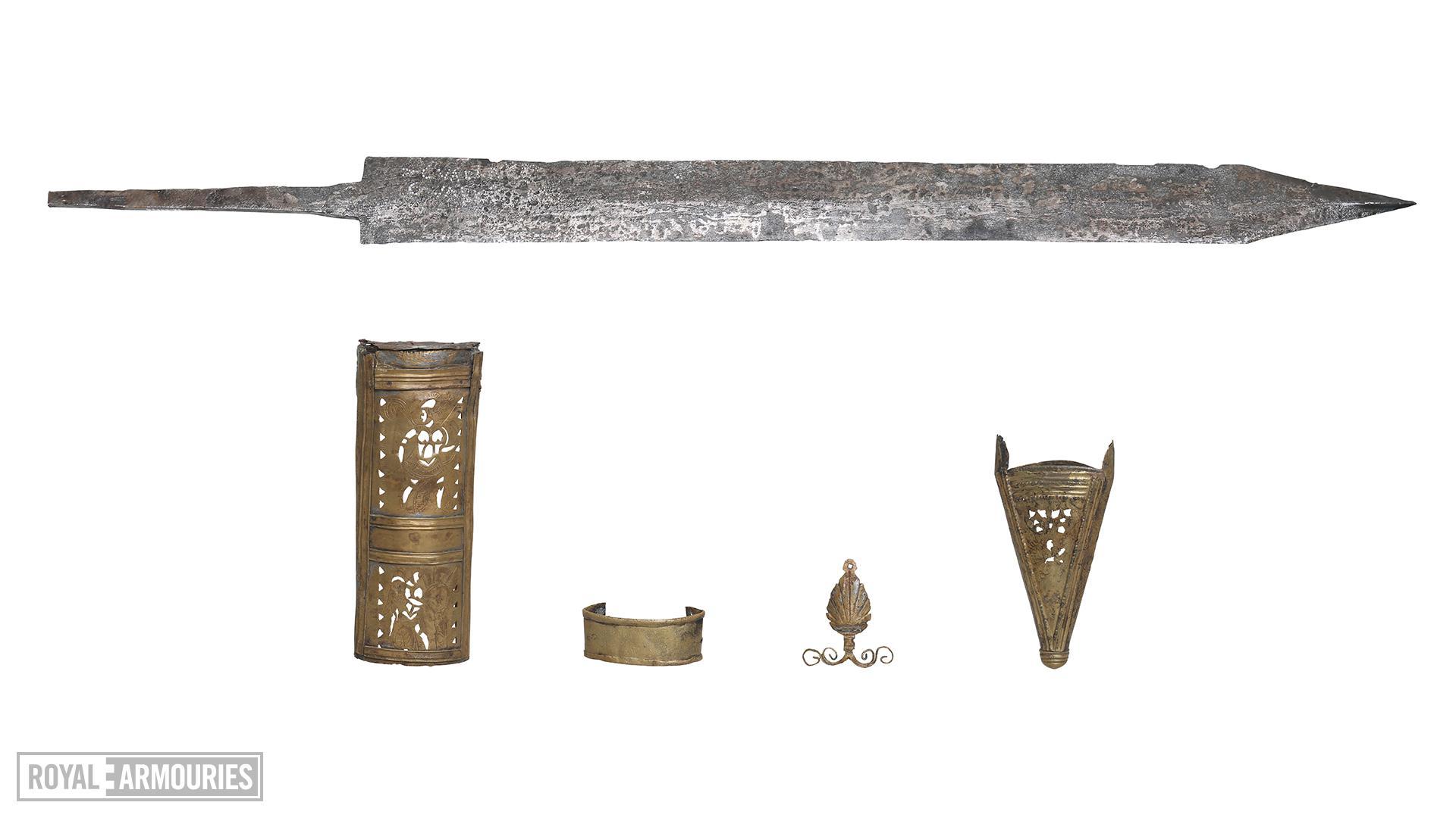 Gladius and scabbard mounts - of the 'Pompeii' type