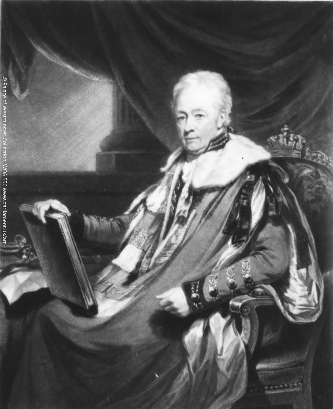 'Earl William Harcourt (1743-1830)', monochrome mezotint by Samuel William Reynolds (the Elder). © Palace of Westminster Collection, WOA 556 www.parliament.uk/art