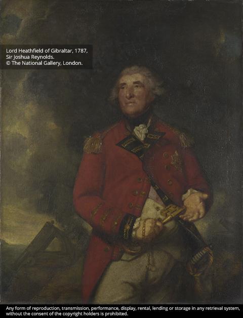 Lord Heathfield of Gibraltar, 1787, Sir Joshua Reynolds.