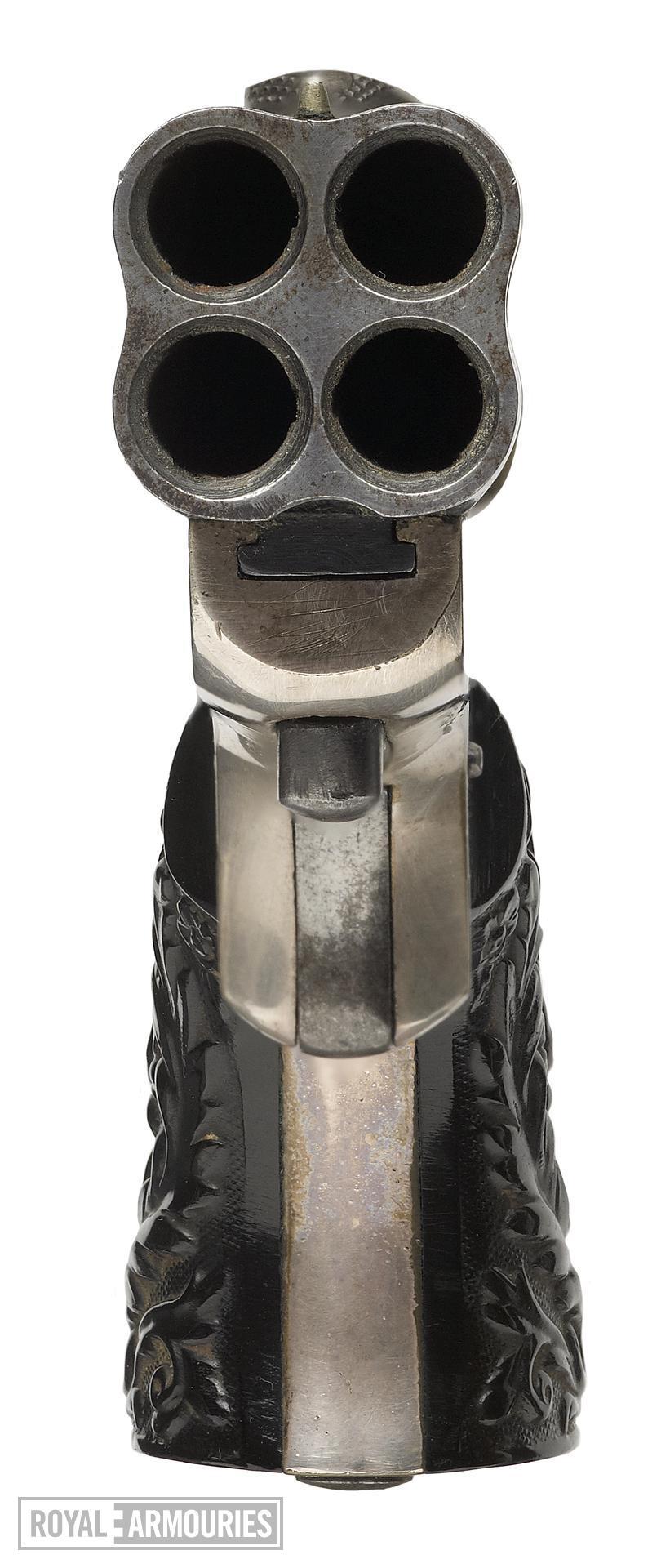 Rimfire breech-loading four-barrelled pistol - Sharps 1849 Patent